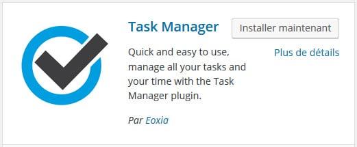 plugin gestion de tâches wordpress