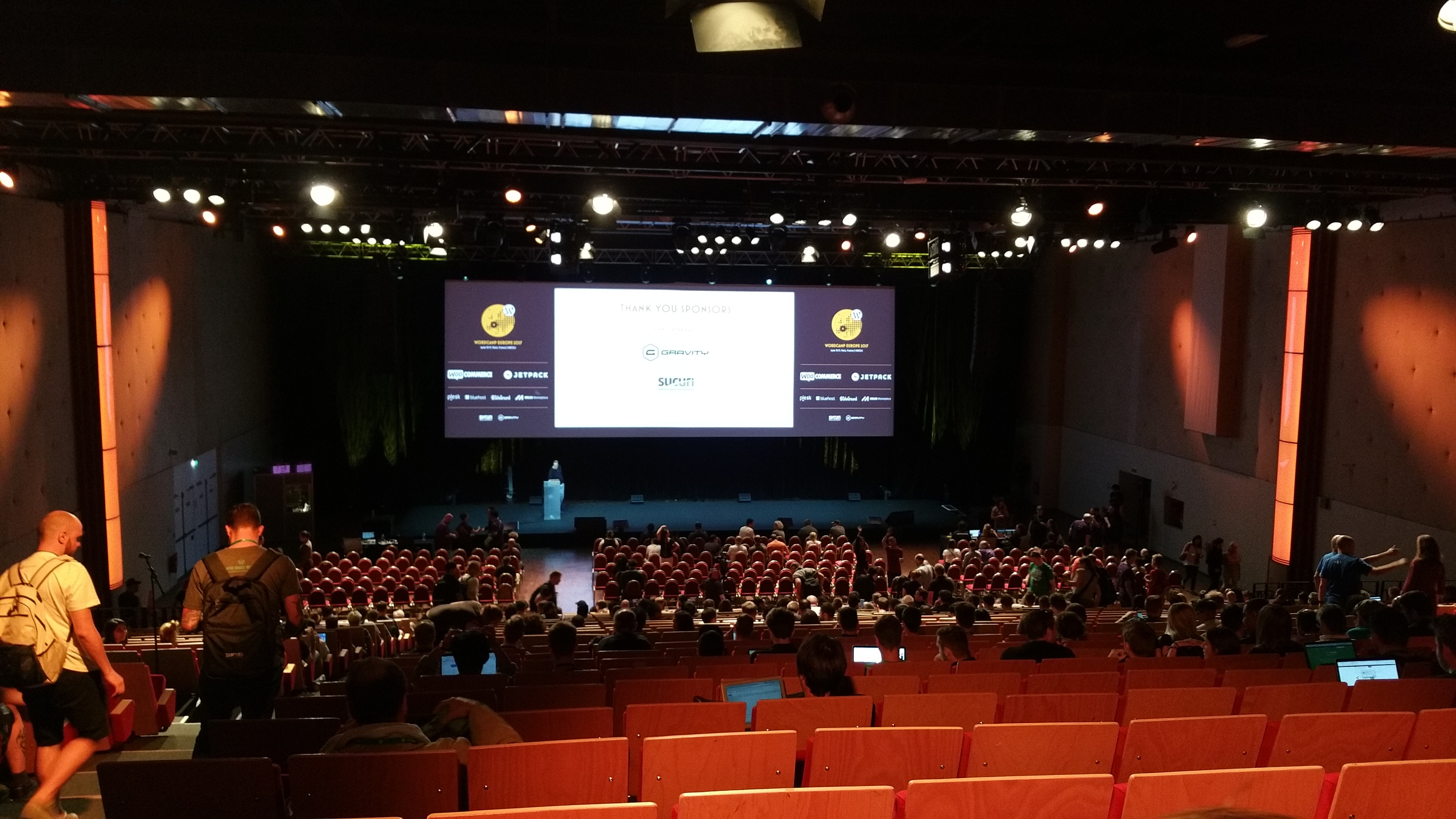 salle de conférence WordCamp Europe à Paris